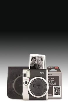 Fujifilm Instax Mini 90 schwarz Retro Set