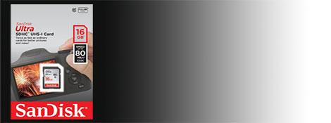 SanDisk Ultra SDHC UHS-I 16GB 80MB/s